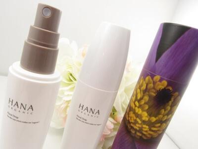 HANAオーガニック化粧水の容器