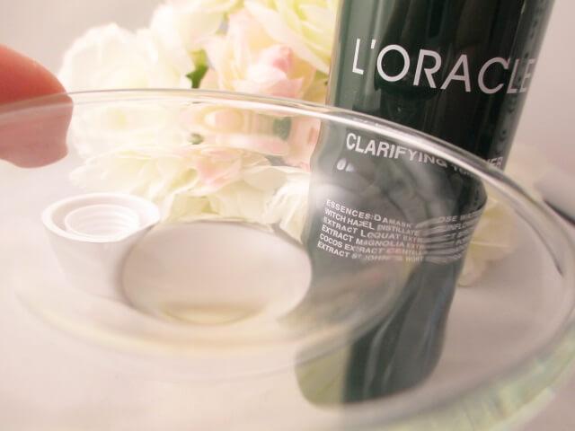 オラクル化粧水のテクスチャー