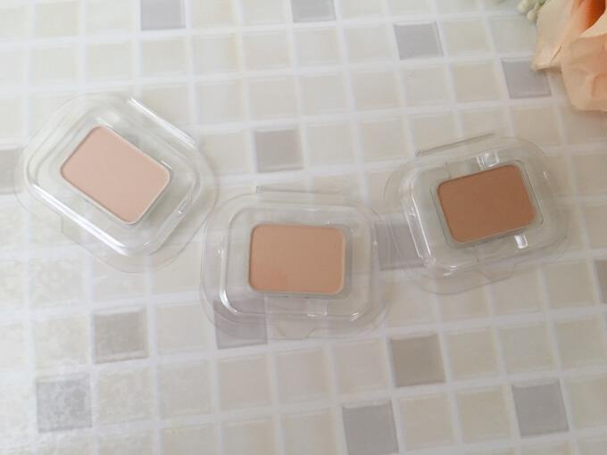 リソウクリアパウダーファンデーション3種類の色