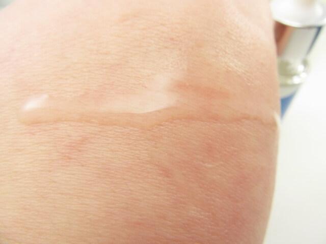 ドクターリセラとうきのしずくの肌への浸透