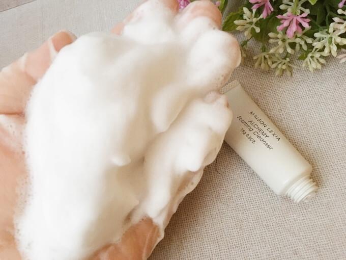 アルケミー洗顔料の泡質