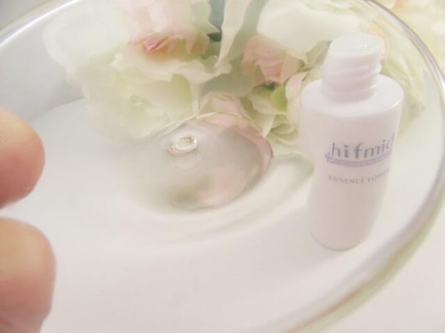 ヒフミド化粧水のテクスチャー