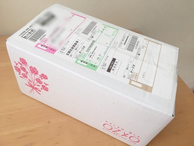 オージオから届いた箱