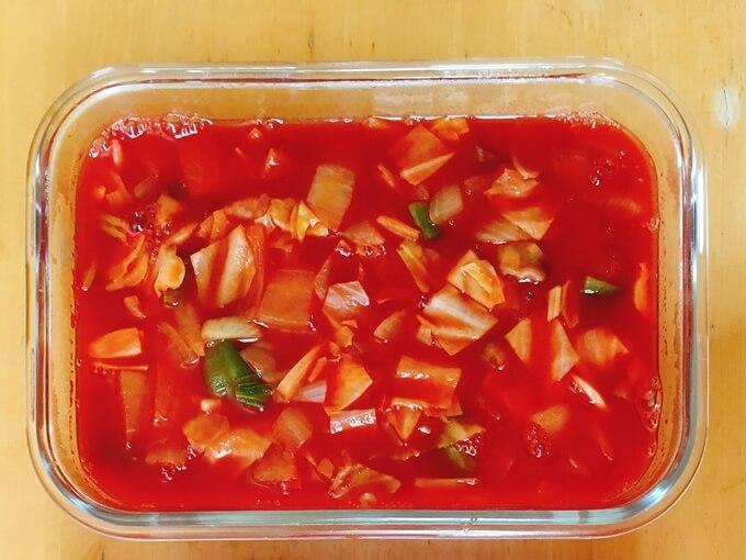 アレンジした脂肪燃焼スープの色
