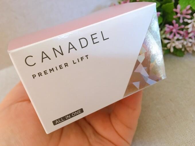 カナデルプレミアリフトオールインワン美容液ジェルの外箱