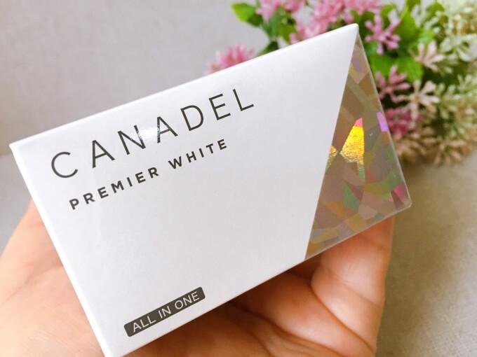 カナデルプレミアホワイトオールワイン美容液クリームの外箱