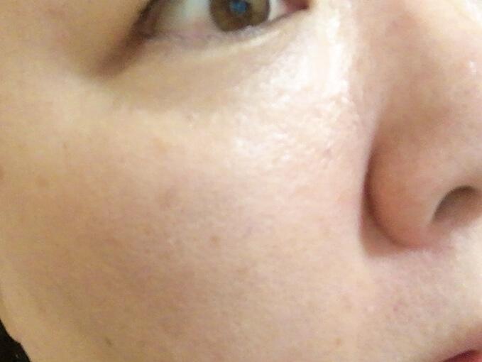 ジュゲン高濃度竹塩石鹸プレミアムで洗顔した後の肌の様子