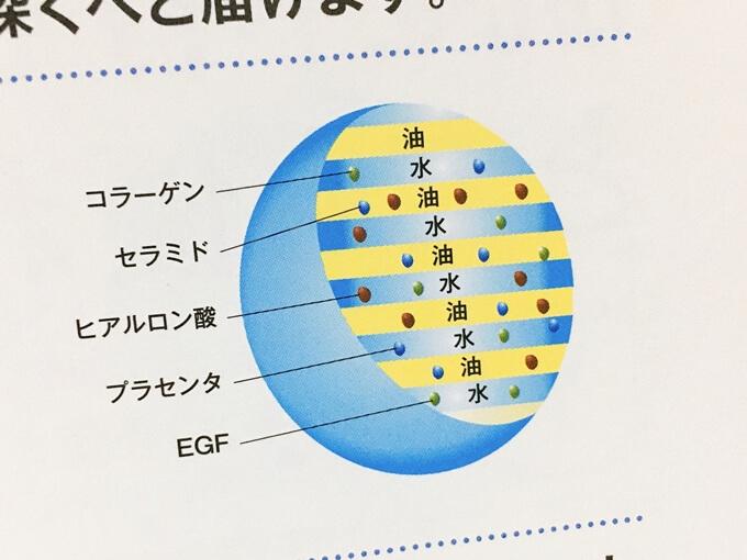 コンシダーマルスキンライズローションのラメラ構造化された美容成分
