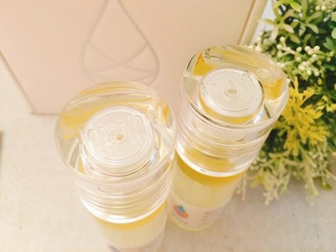 アイマイミー(imyme)セラム美容液のカラス製の容器