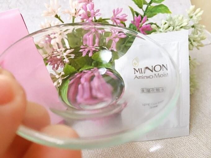 ミノンエイジングケアシリーズの保湿化粧水のテクスチャー