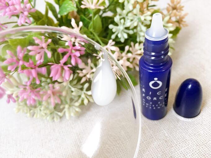 ライスフォース薬用保湿美容液のテクスチャー