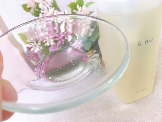 アニュ(anu)クレンジングオイルのテクスチャーと香り