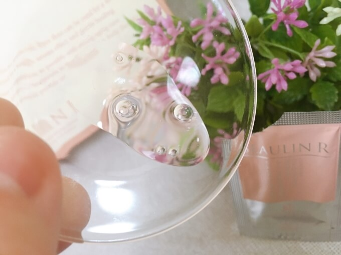 ビューリンR(アール)美容液モイスチャーセラムのテクスチャーと香り