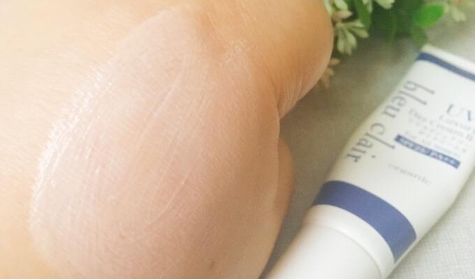 ブルークレールのUV下地クリーム「UVラグジュアリーデイクリームII」の肌なじみ