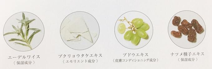 PGCD洗顔石鹸朝用スキンケアソープ「サボンクレール」の美容成分
